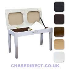 chase duet piano stool keyboard bench black brown white rosewood