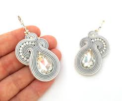 earrings everyday soutache earrings neutral dangle earrings sabo design