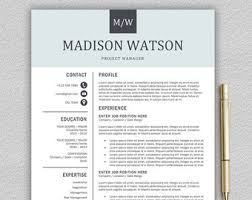 template cv word modern professional and modern resume template for word and pages