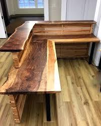 live edge computer desk desk furniture thredup custom reception furniture live edge wooden