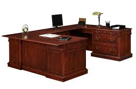 U Shaped Reception Desk Furniture Large U Shaped Desk With White Rolling Chair Some
