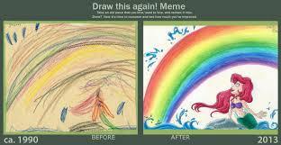 Mermaid Memes - draw this again meme the little mermaid by tabascofanatikerin on