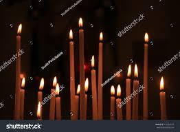 vigil lights catholic church long thin candles roman catholic church stock photo royalty free