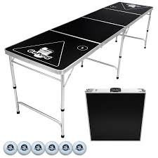 fold up beer pong table gopong 8 portable folding beer pong flip cup table 6 balls