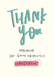 personalised cards for female thank you moonpig