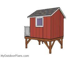 Backyard Playhouse Plans by Backyard Playhouse Roof Plans Myoutdoorplans Free Woodworking