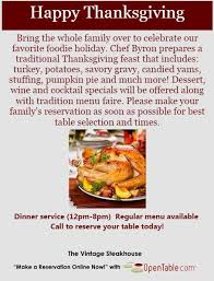 thanksgiving dining in orange county and a few national locations