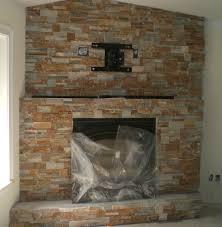 home decor creative stone corner fireplace home design great