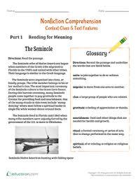 nonfiction comprehension context clues u0026 text features