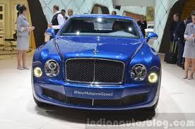 2015 bentley mulsanne speed front view at 2015 geneva motor show