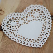 heart shaped doilies doilies my wedding store