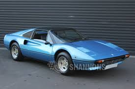 blue ferrari ferrari 308 gts coupe auctions lot 49 shannons