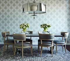 wallpaper dining room home interior design ideas