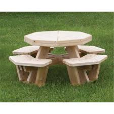 Exteriors Recycled Plastic Picnic Tables Cedar Hexagon Picnic by White Cedar Log Octagon Picnic Table