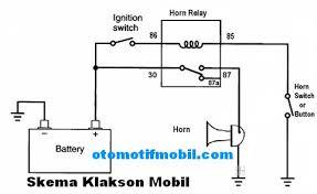 skema rangkaian sederhana relay klakson mobil
