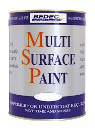 bedec 750 ml soft gloss multi surface paint soft white amazon