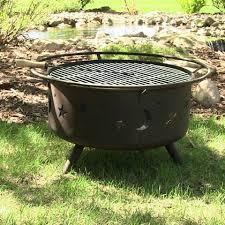 Fire Pit Grille by Sunnydaze Decor Cosmic Fire Pit Grill U2013 Fire Pit Plaza
