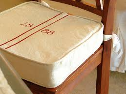 Small Bistro Chair Cushions Polyurethane Vinyl Solid Ivory Set Of 551 Kitchen Chair Pads With