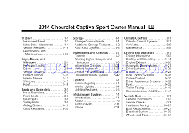 chevrolet cars 2014 captiva owner u0027s manual download free