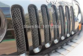 Rugged Ridge Grille Inserts Jeep Jk Online Shop Chrome Mesh Grill Insert With Engineer Cover Lock Hole