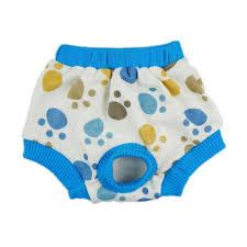 fitwarm pet cute paws sanitary pants dog diaper season heat nappies