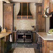 Cooktop Hoods A La Cornue Stove And Custom Hood With Copper Accents Command