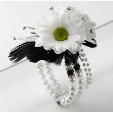 and black corsage sweetness corsage bracelet white and black corsage creations