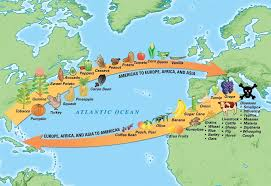 Map Of Columbus Voyage The