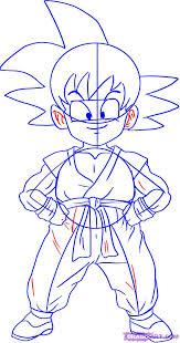 draw son goku step step dragon ball characters