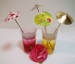 diy how to make easy drink umbrellas for your party clever