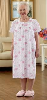 elderly woman clothes cotton poly nightgown buck buck