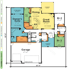1 Storey Floor Plan by One Story House U0026 Home Plans Design Basics