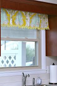 Kitchen Curtain Valance by Curtains With Cheery Yellow Pom Pom Fringe