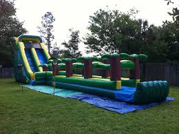 party rental orlando 20 ft tropical turbo water slide miami florida party rentals