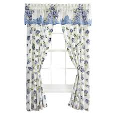nicole blue floral rod pocket window curtains by collections etc
