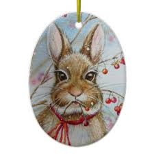 watercolor bunny ornaments keepsake ornaments zazzle