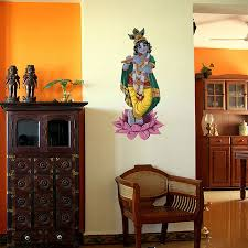 krishna on a lotus painted wall sticker buy god decals from
