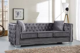 Black Fabric Chesterfield Sofa by Everly Quinn Creekside Velvet Chesterfield Sofa U0026 Reviews Wayfair