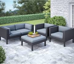 Patio Sofa Clearance by Furniture 7 Piece Yellow Conversation Sets Patio Furniture