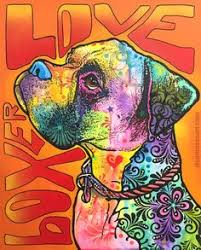 boxer dog art boxer in your face boxers etsy and faces