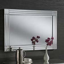 Beveled Bathroom Mirror by White Wall Mirror Wall Mirrors Wheaton Wall Mirror White H