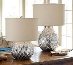 Hammered Metal Table Lamp Lamps Silver Grey Bedside Lamps Designer Floor Lamps Small Table