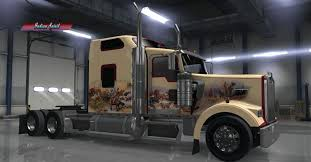 kenworth t900 kenworth w900 indian spirit custom skin mod american truck