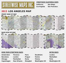 Metro Los Angeles Map by Streetwise Los Angeles Map Laminated City Center Street Map Of