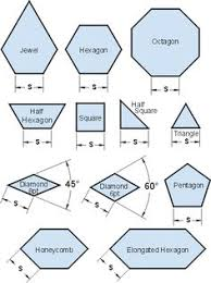 printable english paper piecing templates smaller shapes