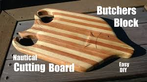 diy fish shaped butchers block nautical cutting board 1 youtube