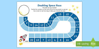 doubling race activity sheet doubling race worksheet game