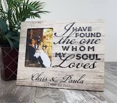 personalized wedding photo frame personalized wood wedding picture frame song of solomon