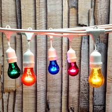 Commercial Patio String Lights by 100 Ft White Commercial Medium Suspended Socket String Light U0026 A15