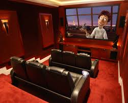 home theatre room decorating ideas basement home theater design simple basement home theater room